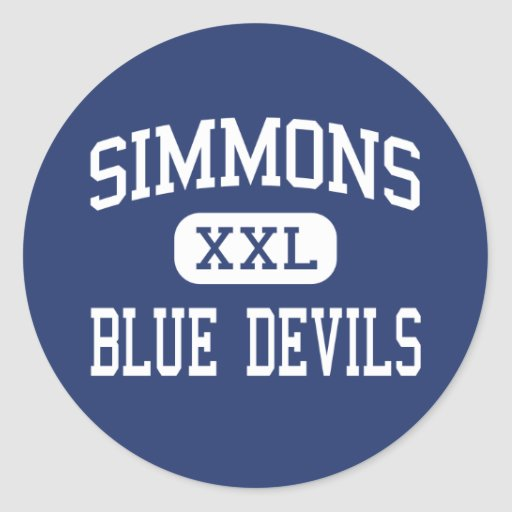 Simmons - Blue Devils - High - Hollandale Sticker