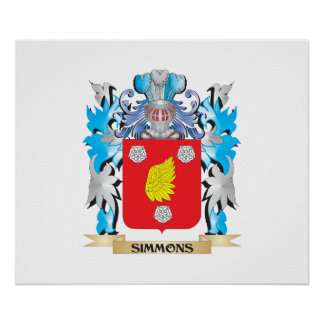 Simmons Coat of Arms - Family Crest Poster