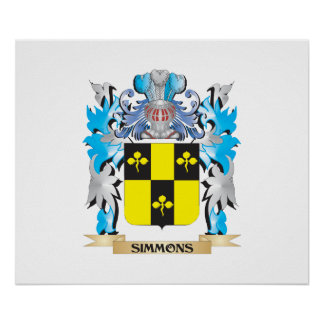 Simmons Coat of Arms - Family Crest Print
