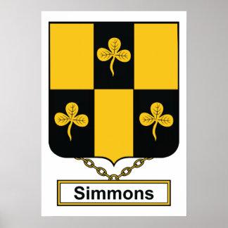 Simmons Family Crest Print