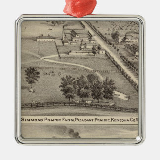 Simmon's Prairie Farm, Kenosha Water Cure Christmas Ornament