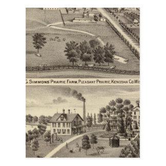 Simmon's Prairie Farm, Kenosha Water Cure Postcard