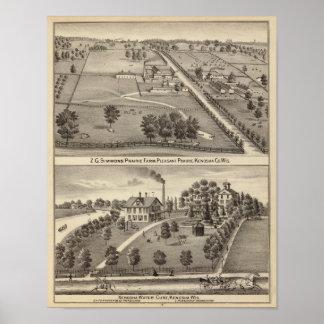 Simmon's Prairie Farm, Kenosha Water Cure Print