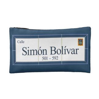 Simon Bolivar, Street Sign, Sucre, Bolivia Makeup Bag