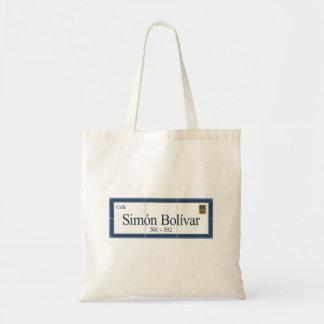 Simon Bolivar, Street Sign, Sucre, Bolivia Bags