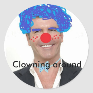 Simon cowell the clown Clowning around Classic Round Sticker