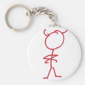 Simon Jester Basic Round Button Key Ring