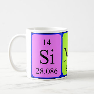 Simon periodic table name mug