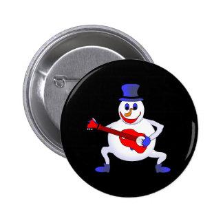 Simon The Snowman 6 Cm Round Badge