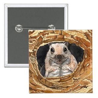 Simon The Squirrel 15 Cm Square Badge