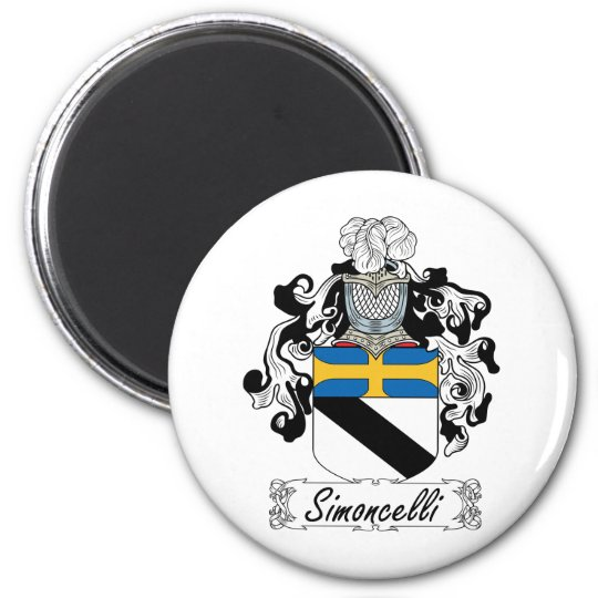 Simoncelli Family Crest 6 Cm Round Magnet