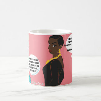 Simone gives Jackie Airline Glitch 101 Coffee Mug