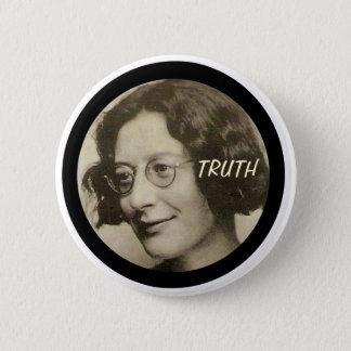 Simone Weil 6 Cm Round Badge