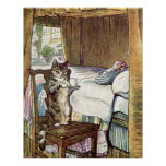 Simpkin the Cat Serves Tea Poster