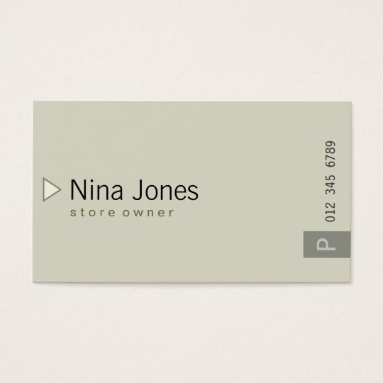 Simple #03 business card