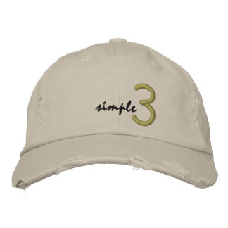 Simple 3 hat embroidered hat