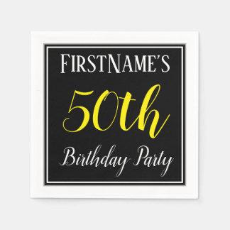 Simple, 50th Birthday Party w/ Custom Name Paper Napkin