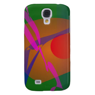 Simple Abstract Composition Green Samsung Galaxy S4 Covers