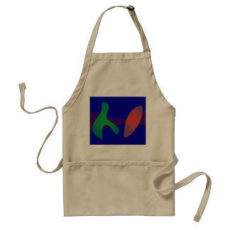 Simple Abstract Irregular Forms Standard Apron