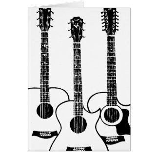 simple acoustic guitars card