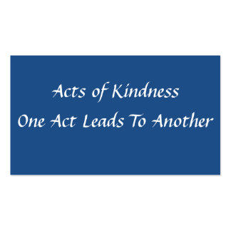 Simple Acts of Kindness Card Business Card Templates