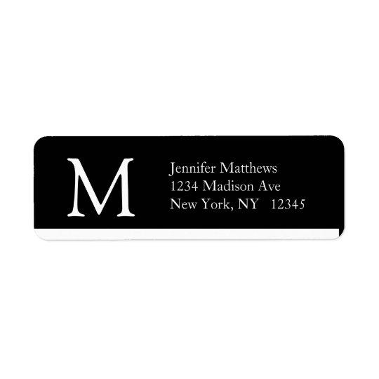 Simple Address Labels Monogram Modern