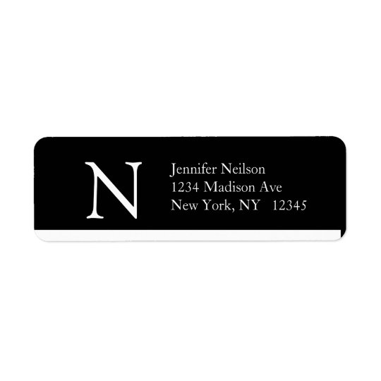 Simple Address Labels Monogram N Modern Design