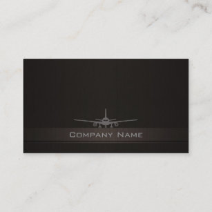Aerospace business cards zazzle uk simple aeroplane company business card reheart Gallery
