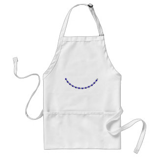 Simple Alternating Sapphire and Diamond Necklace Aprons