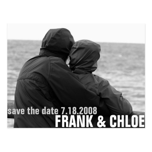 Simple and Cheap Save The Date Annoucement Postcards