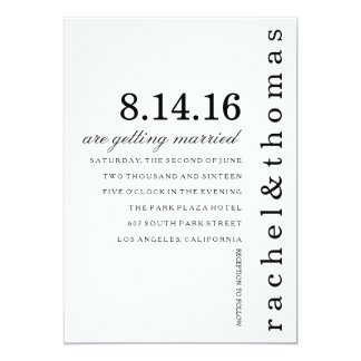 Simple and Chic 13 Cm X 18 Cm Invitation Card