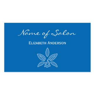 Simple and Chic Salon in Dazzling Blue Floral Double-Sided Standard Business Cards (Pack Of 100)
