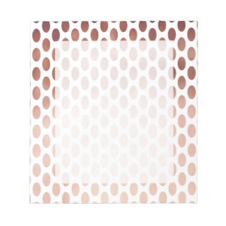 simple and clear rose gold foil polka dots pattern notepad