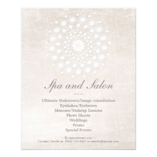 Simple and Elegant Hair Salon and Spa Off White 11.5 Cm X 14 Cm Flyer