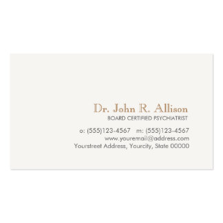 Simple and Elegant Professional Psychiatrist Pack Of Standard Business Cards