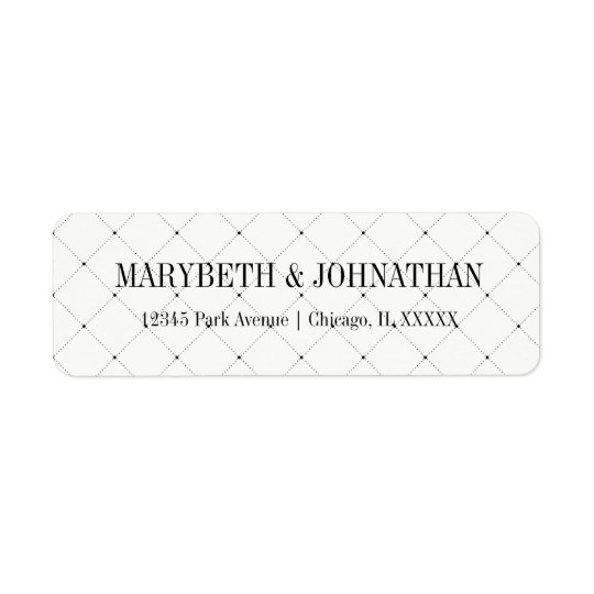 Simple and Elegant Wedding  Return Address Label