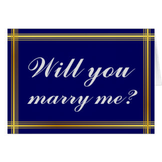 "Simple and Elegant ""Will you marry me?"" Card"
