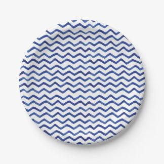 Simple and Fun Indigo Blue Patten | Paper Plate 7 Inch Paper Plate