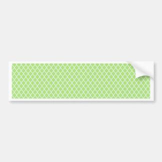 simple and pretty green bumper sticker