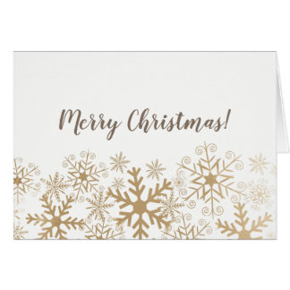 Simple and stylish Christmas card with golden snow