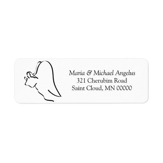 Simple Angel Custom Christmas Card Envelopes Label