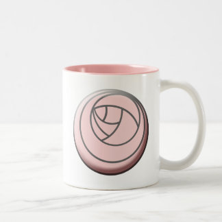Simple Art Nouveau Rose Two-Tone Coffee Mug