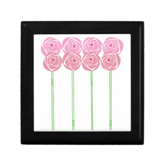 Simple Art Nouveau Roses in the Mackintosh Style Gift Box