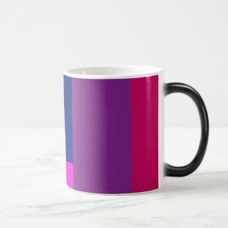Simple Artistic Design Shocking Pink Morphing Mug