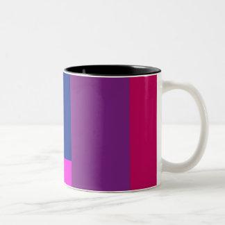 Simple Artistic Design Shocking Pink Mugs