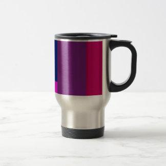 Simple Artistic Design Shocking Pink Stainless Steel Travel Mug