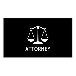 Simple Attorney Business Cards
