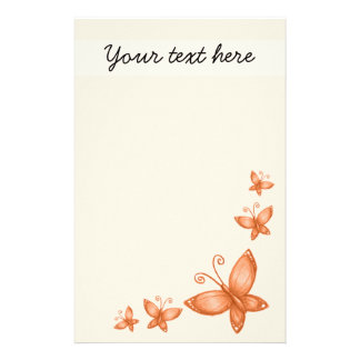 Simple Autumn / Fall Butterfly Stationery