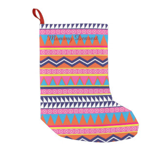 Simple Aztec Tribal Borders Small Christmas Stocking