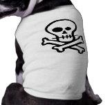 Simple B&W Skull & Crossbones Dog Clothes
